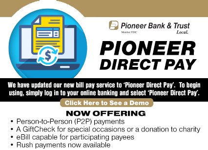 Pioneer Direct Pay Enroll Now. Now offering, person to person payments, a GiftCheck for special occasions or a donation to charity, eBill capable for participating payees, Rush payments now available. Local Home Loans.